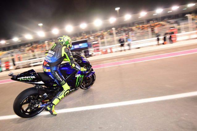 Valentino Rossi in azione in Qatar nel 2019 / Getty