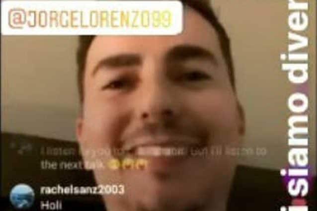 Jorge Lorenzo nel video Instagram