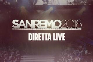 Sanremo 2016, diretta live della seconda serata
