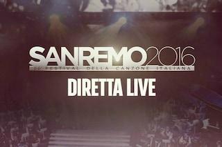 Sanremo 2016, diretta della quinta serata