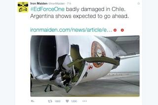 Incidente in pista per l'aereo degli Iron Maiden, due feriti