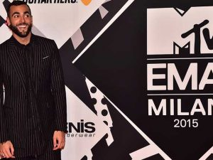 Marco Mengoni agli Mtv Ema 2015 (Getty Images)