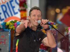 Chris Martin dei Coldplay (Getty Images)