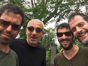 Da sx: Colapesce, Fabio Rondanini, Jacopo Incani (Iosonouncane), Mario Conte