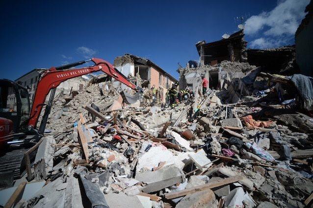 La città di Amatrice dopo il terremoto del 2016