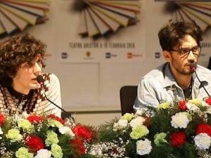 Ermal Meta e Fabrizio Moro durante la conferenza stampa (Ph. Fanpage.it)