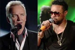 """A Sanremo il reggae di Shaggy e Sting, che rende omaggio all'Italia con """"Muoio per te"""""""
