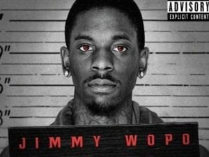 "Il rapper Jimmy Wopo sulla copertina di ""Back against the wall"""