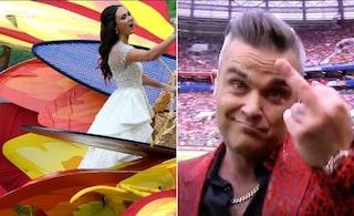 """Robbie Williams si scusa per il dito medio ai Mondiali 2018: """"Non posso fidarmi di me stesso"""""""