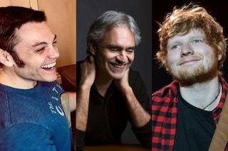 """Il significato di """"Amo soltanto te"""", la canzone che unisce Andrea Bocelli, Sheeran e Tiziano Ferro"""
