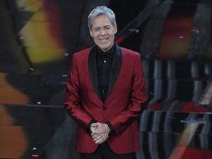 Claudio Baglioni durante il festival di Sanremo 2018 (LaPresse)