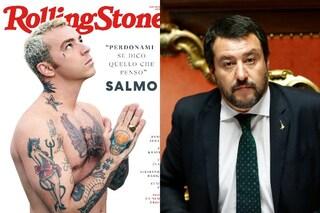 """Salmo ai fan che sostengono Matteo Salvini: """"Cambiate la vostra idea del caz** o bruciate i miei cd"""""""