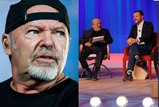 Matteo Salvini canta Albachiara al Maurizio Costanzo Show, la reazione di Vasco Rossi è una bufala