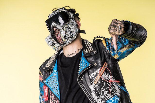 Il rapper Junior Cally (foto di Sebastiano Fernandez)