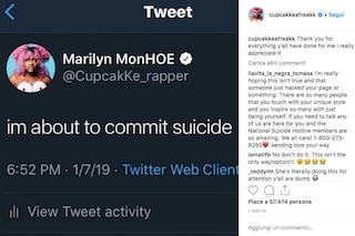 """""""Sto per suicidarmi"""", paura per CupcakKe: la rapper americana è stata portata in ospedale"""