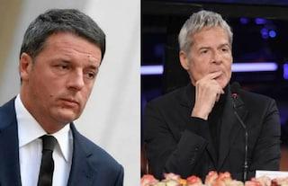 "Matteo Renzi difende Claudio Baglioni: ""Salvini vuole impedire ai cantanti di esprimere opinioni?"""