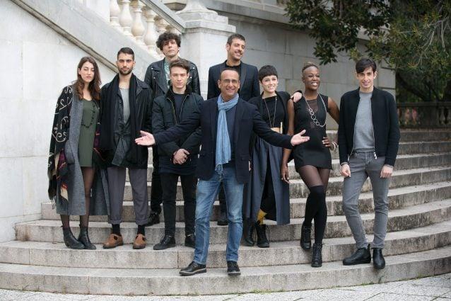 Carlo Conti con i Giovani del 66° Festival di Sanremo (LaPresse)