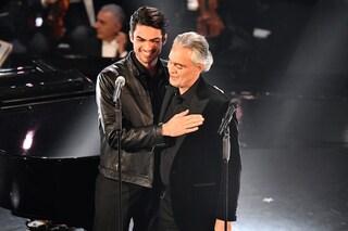 """Sanremo 2019, l'emozione di Andrea Bocelli e di Matteo: """"L'insegnamento più importante di papà"""""""