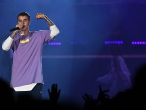 Justin Bieber in concerto (Getty Images)
