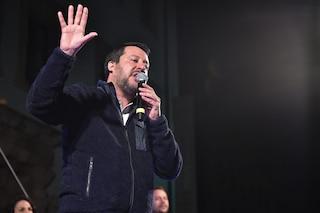 """Matteo Salvini: """"La politica non deciderà la musica in onda in radio. Mahmood? Preferisco Fedez"""""""