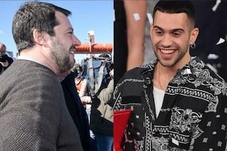 """Mahmood risponde a Matteo Salvini: """"Mai avvertito di essere diverso, me lo fate sentire voi oggi"""""""
