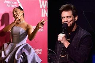 Ariana Grande cita Jim Carrey contro la depressione: lo scambio tra i due su Twitter