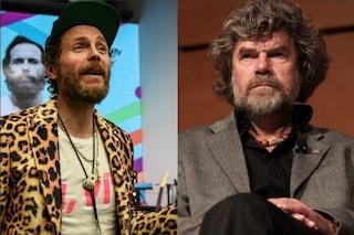 """Reinhold Messner contro Jovanotti: """"Non lo giudico ma è insensato fare un concerto in montagna"""""""