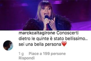 Alessandra Amoroso risponde al profilo fake di Mark Caltagirone, che a sua volta non esiste