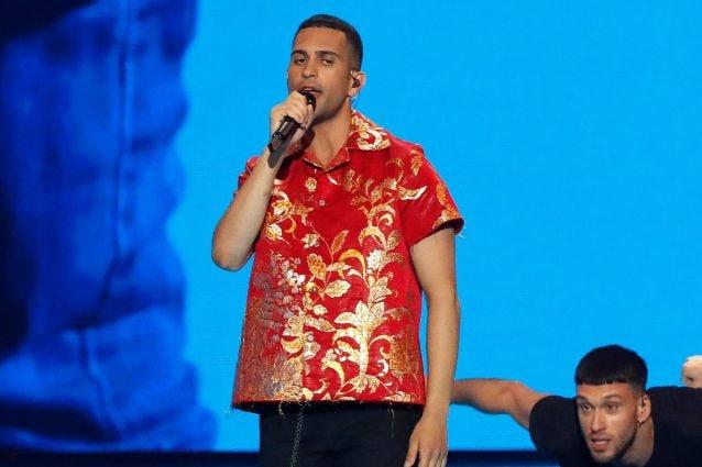 Mahmood sul palco dell'Eurovision (LaPresse)