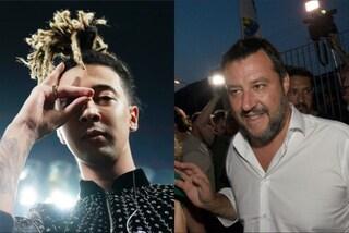 """Matteo Salvini ancora contro Ghali che gli dà del fascista: """"Agli insulti rispondiamo coi bacioni"""""""