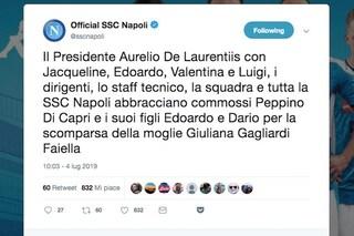 Peppino di Capri, il messaggio di De Laurentiis e del Napoli per la morte di Giuliana Gagliardi