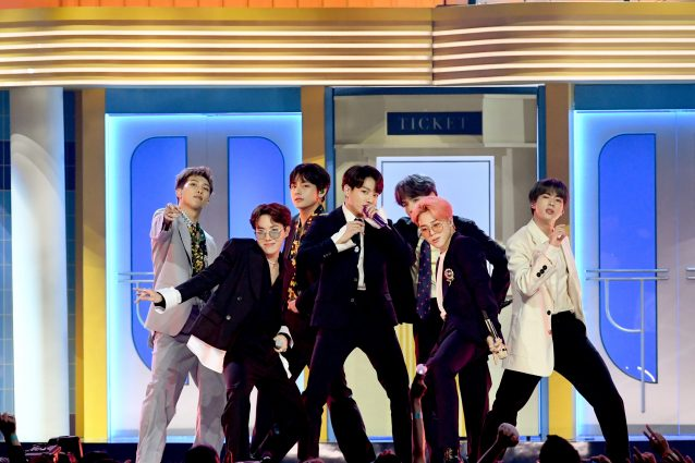 I BTS durante i Billboard Music Awards 2019 (Getty Images)