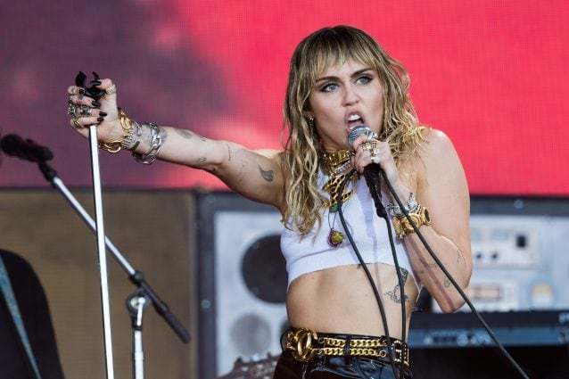 Miley Cyrus al Glastonbury Festival of Music and Performing Arts (Getty Images)