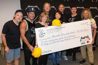 I Metallica donano 250 mila euro per la costruzione di un Ospedale pediatrico oncologico