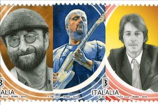Francobolli speciali per Lucio Dalla, Pino Daniele e Giorgio Gaber: l'iniziativa di Poste Italiane