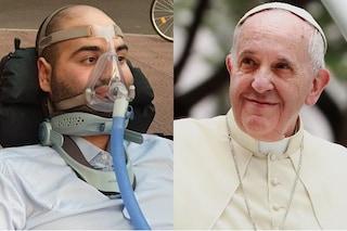 """Papa Francesco scrive a mano a Paolo Palumbo, malato di Sla invitato a 'Sanremo': """"Prego per te"""""""