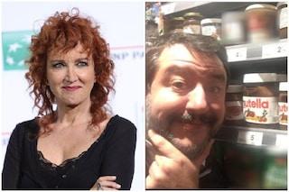 """Fiorella Mannoia contro Matteo Salvini per le polemiche sulla Nutella: """"Daje Mattè, facce pace"""""""