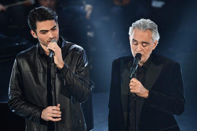 Andrea e Matteo Bocelli a sanremo 2019 (Photo Gian Mattia D'Alberto/LaPresse)