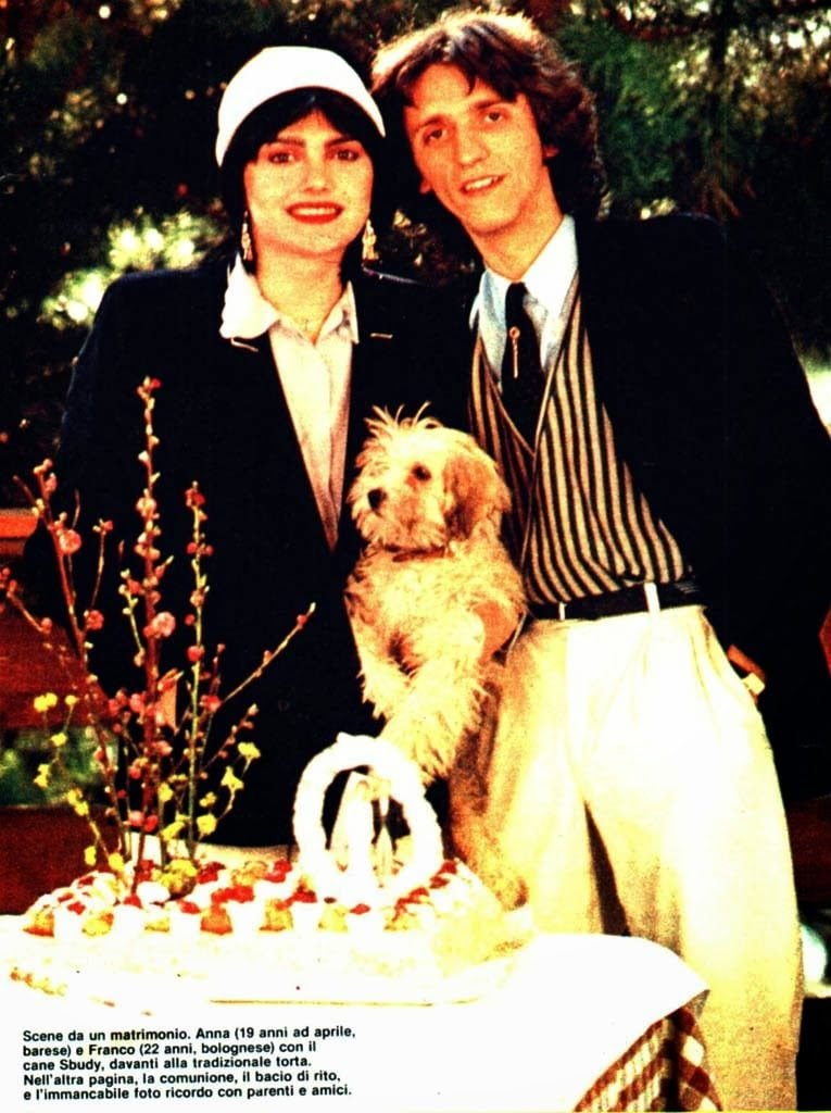 Il matrimonio con Anna Oxa nel 1980