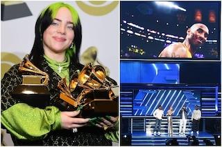 Grammy 2020, Billie Eilish vince tutto nella serata dedicata a Kobe Bryant