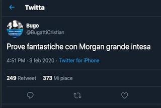 """""""Prove fantastiche con Morgan grande intesa"""", il tweet di Bugo prima di Sanremo 2020"""