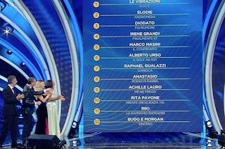 Le Vibrazioni al primo posto nella classifica provvisoria di Sanremo 2020