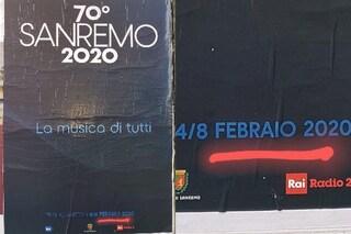 Errore sui manifesti del Festival di Sanremo 2020: febbraio è scritto con una b