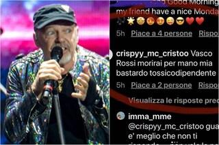 """Minacce di morte a Vasco Rossi, lui risponde: """"Ti aspetto amico, non mi fai paura"""""""