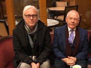 Bill Rieflin con Robert Fripp (via Facebook)