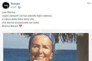 """L'addio di Giorgia alla madre di Alex Baroni: """"Voglio pensarti col tuo adorato figlio"""""""