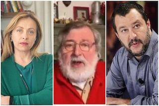 """Francesco Guccini canta Bella Ciao, gli invasori sono Meloni e Salvini: """"Partigiano portali via"""""""