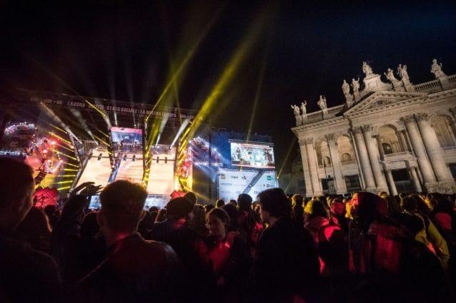 Un'immagine del Primo Maggio di Roma del 2019