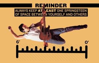"""""""State almeno a uno Springsteen di distanza"""", il Boss protagonista della campagna anti coronavirus"""