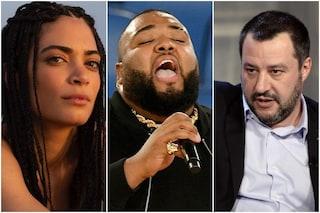 """Elodie difende Sergio Sylvestre: """"Matteo Salvini piccolo uomo"""" e agli hater: """"Bestie, razzisti"""""""